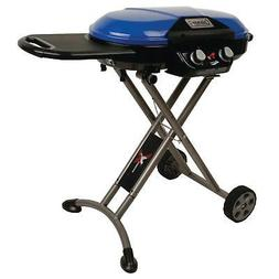 Portable Stand Up Propane Grill Blue Coleman RoadTrip Xcursi