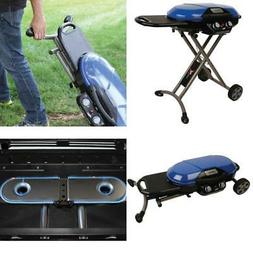 Portable StandUp Propane Grill Stove Outdoor Blue Camping Ge