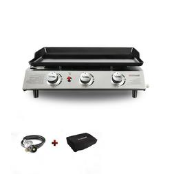 Royal Gourmet Portable Tabletop 3-Burner Propane Gas Grill G