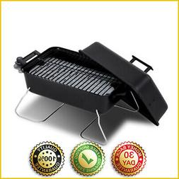 PORTABLE TABLETOP GAS GRILL Small Travel Cooking BBQ Outdoor