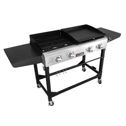 Premium Portable 4-Burners Propane Gas Grill and Griddle Com