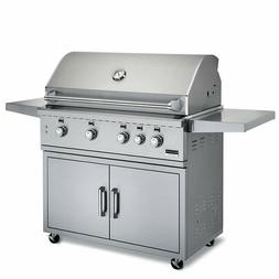"""Broilmaster Stainless 42"""" Gas Grill On Cart- Cast Stainless"""