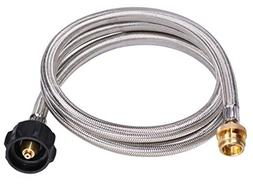 DozyAnt 5 Feet Stainless Steel Braided Propane Adapter Hose